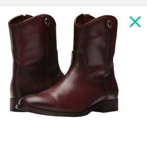 New Frye Short Melissa Boot in Redwood Size 7
